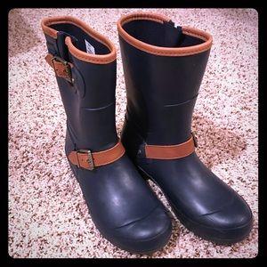 Sperry Walker Fog Navy Rain Boots  Navy size 7 EUC